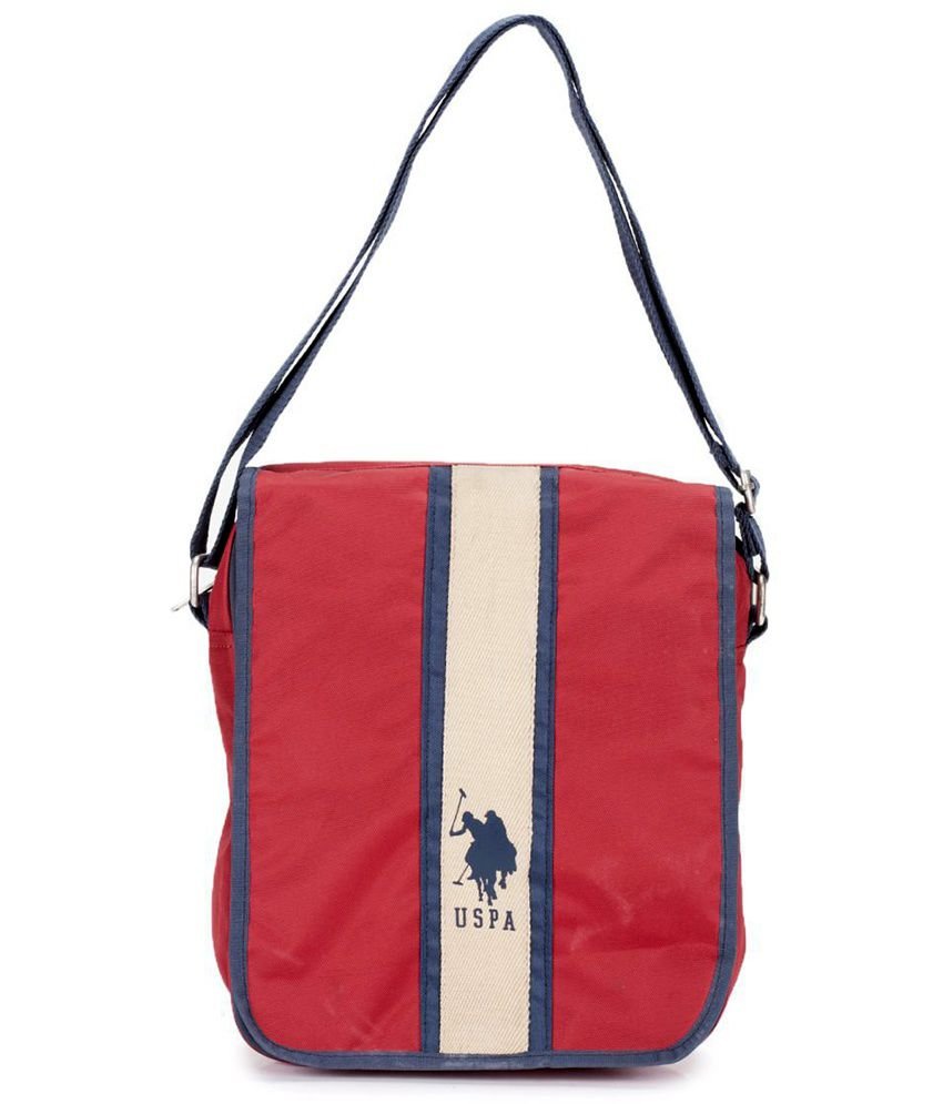 U.S. Polo Assn. Red Nylon Casual Messenger   College Bag - Buy U.S. Polo  Assn. Red Nylon Casual Messenger   College Bag Online at Low Price -  Snapdeal f9e6d3abdb