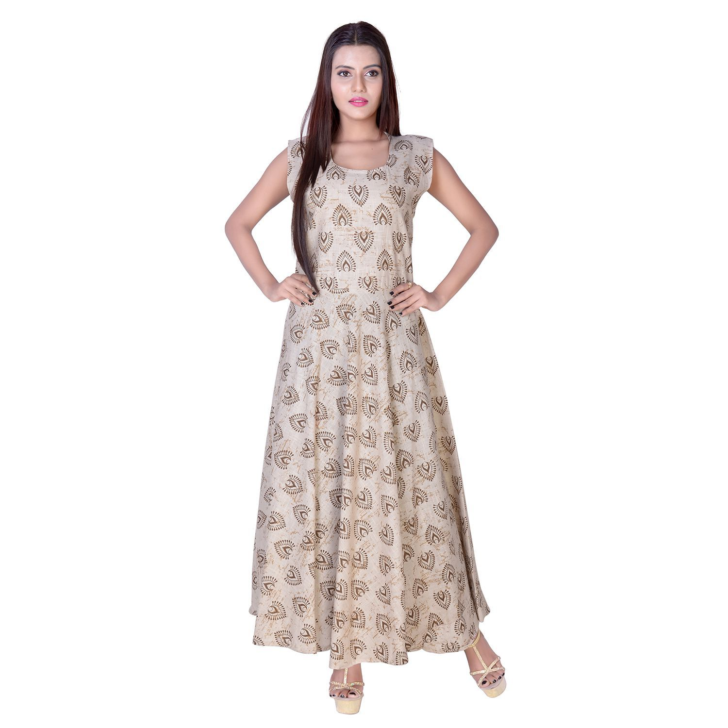 cc826ba5172f fabcolors Cotton Brown Dresses - Buy fabcolors Cotton Brown Dresses Online  at Best Prices in India on Snapdeal