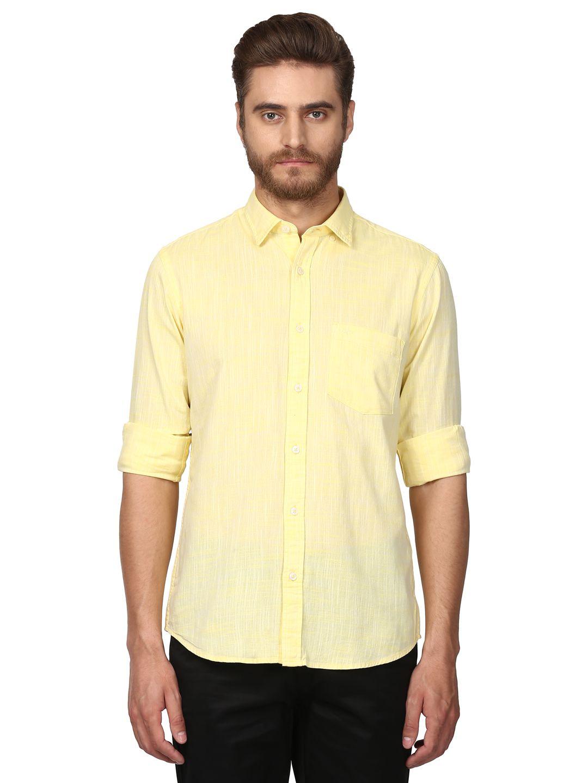 Colorplus Yellow Slim Fit Shirt