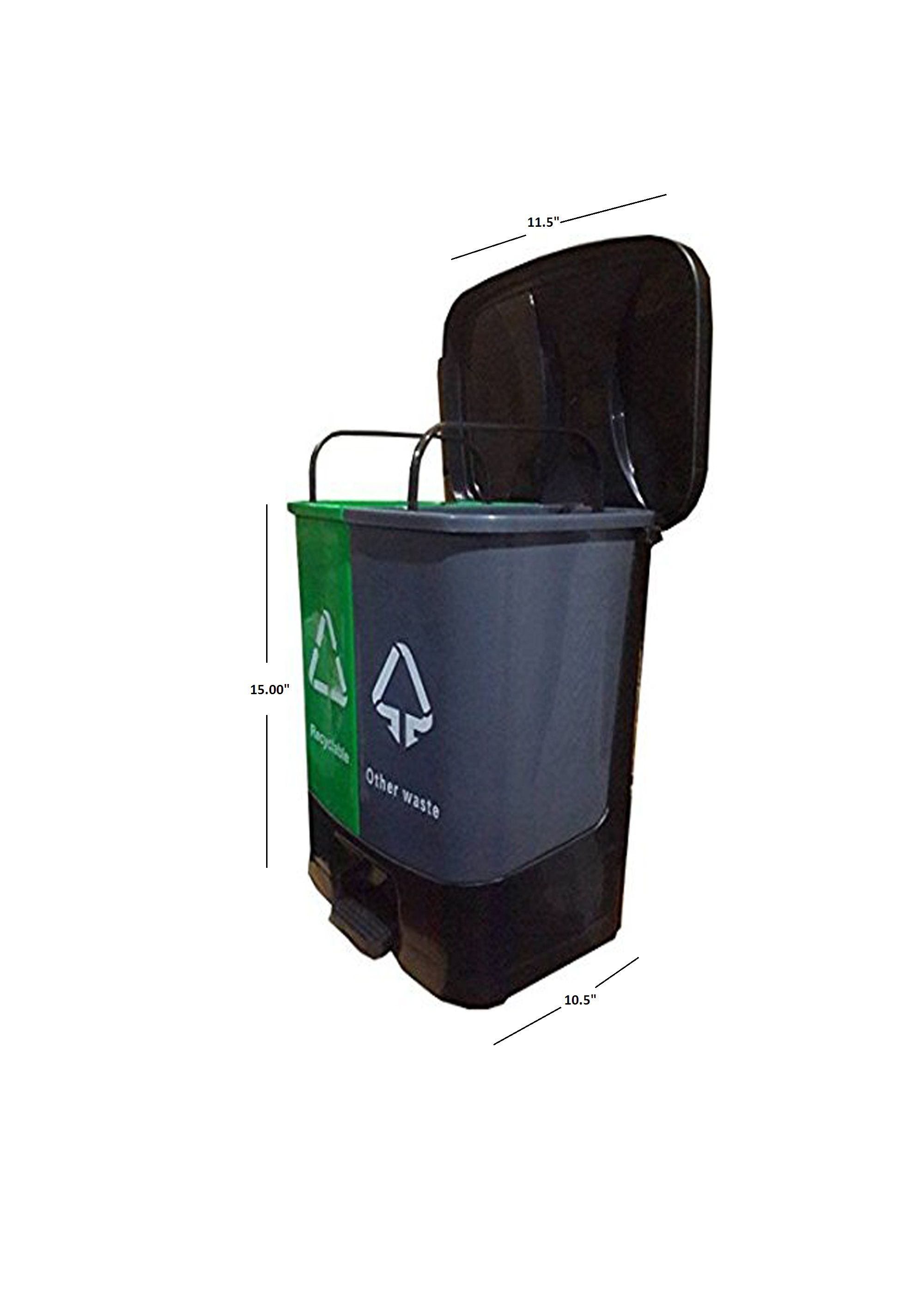 Plastic Garbage Waste Dustbin Kitchen Office Home Dustbin Recycle ...