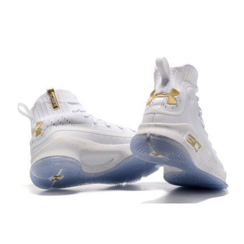 aecb071feecd Under Armour STEPHEN CURRY 4 GOLD White Basketball Shoes - Buy Under ...