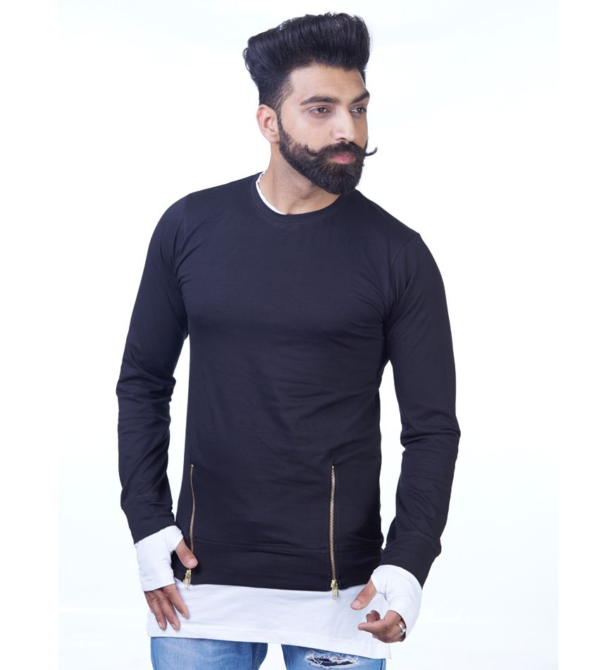 Rellin Black Round T-Shirt Pack of 1