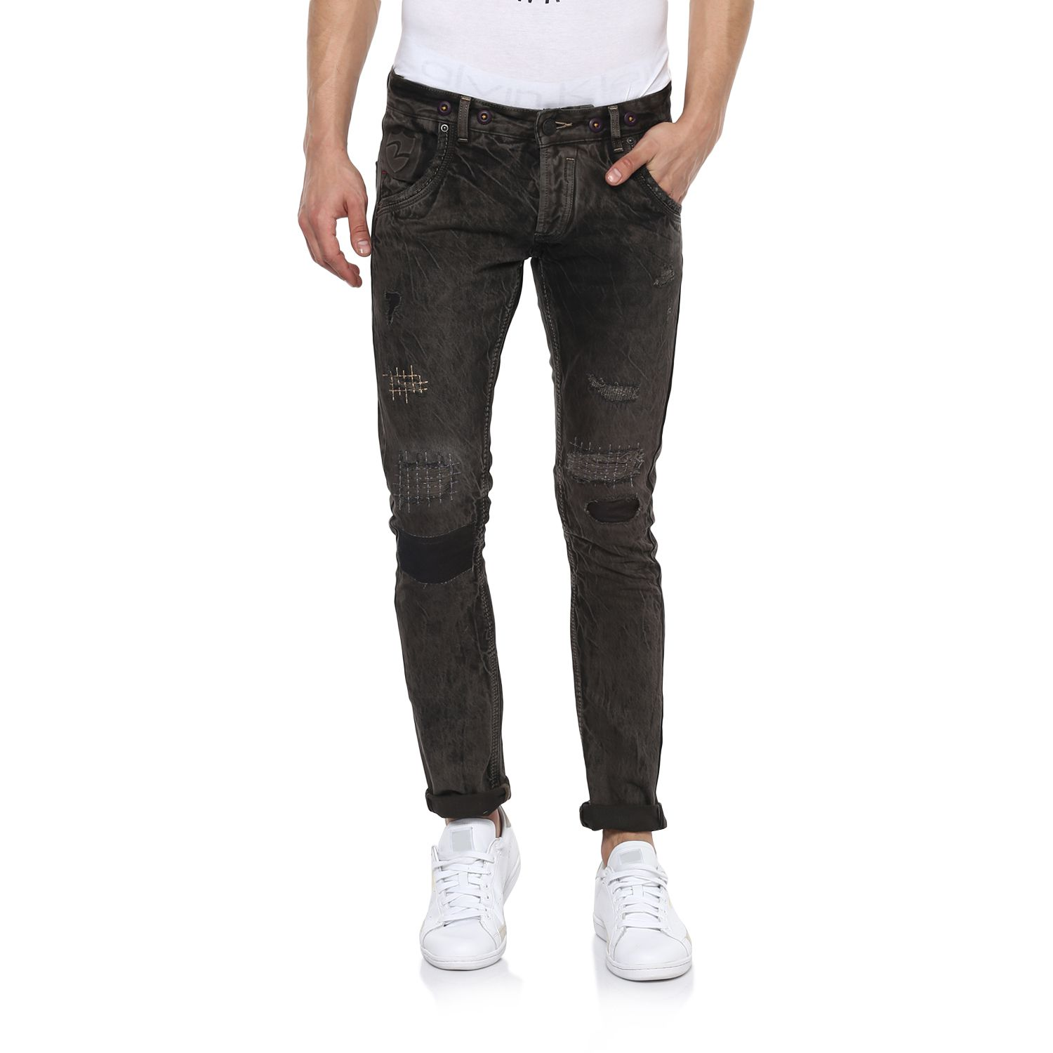 Spykar Black Regular Fit Jeans