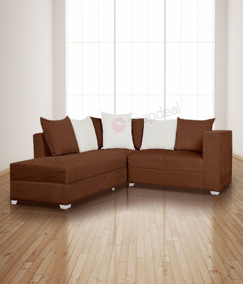 S K Furniture Martine Brown L Shape Sofa Buy S K Furniture Martine