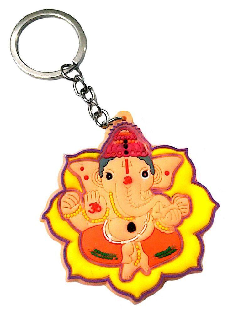 ganesha yellow keychain