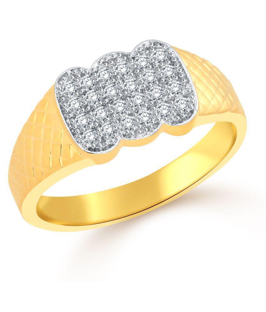 Classic Daring Hero (CZ) Gold  Plated Ring for Men [CJ5008FRG19]