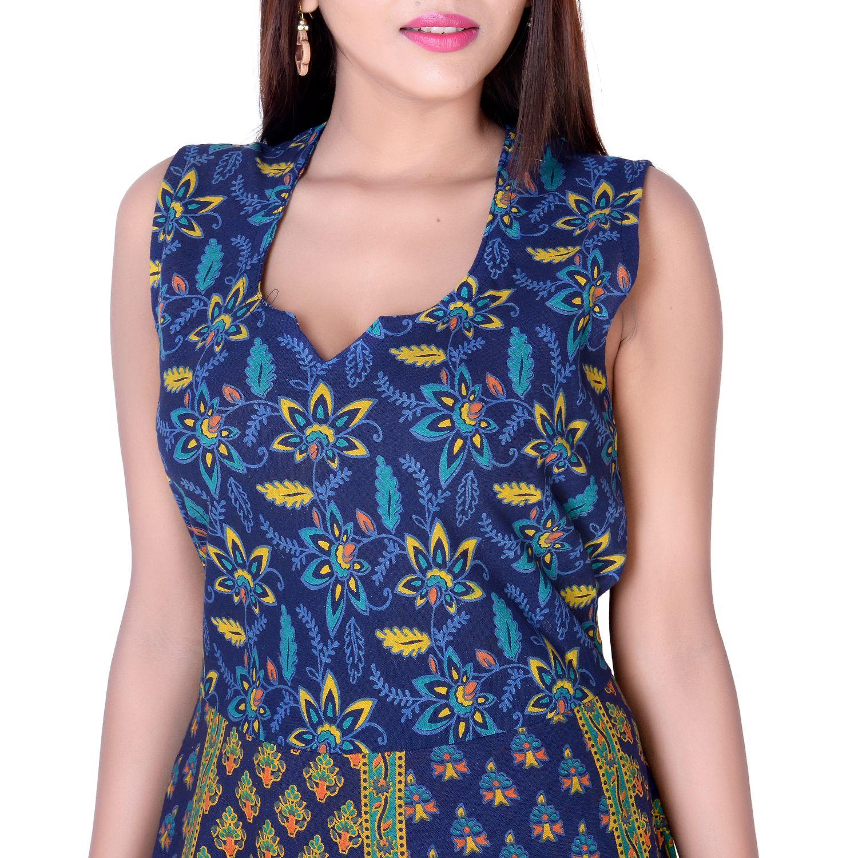 6e843f0d9c9 fabcolors Cotton Blue Dresses - Buy fabcolors Cotton Blue Dresses ...