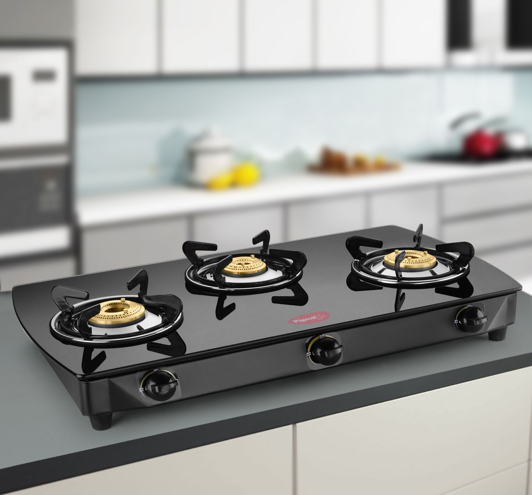 pigeon brass black 3 burner glass top price in india buy pigeon