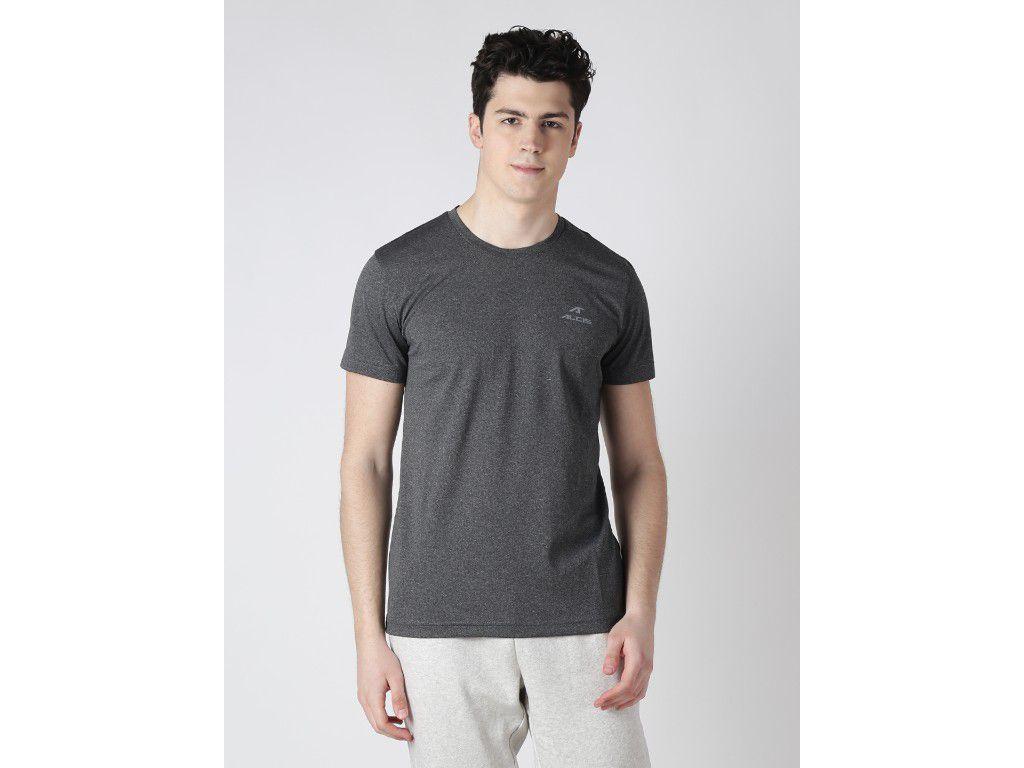 Alcis Mens Black Solid Tshirt