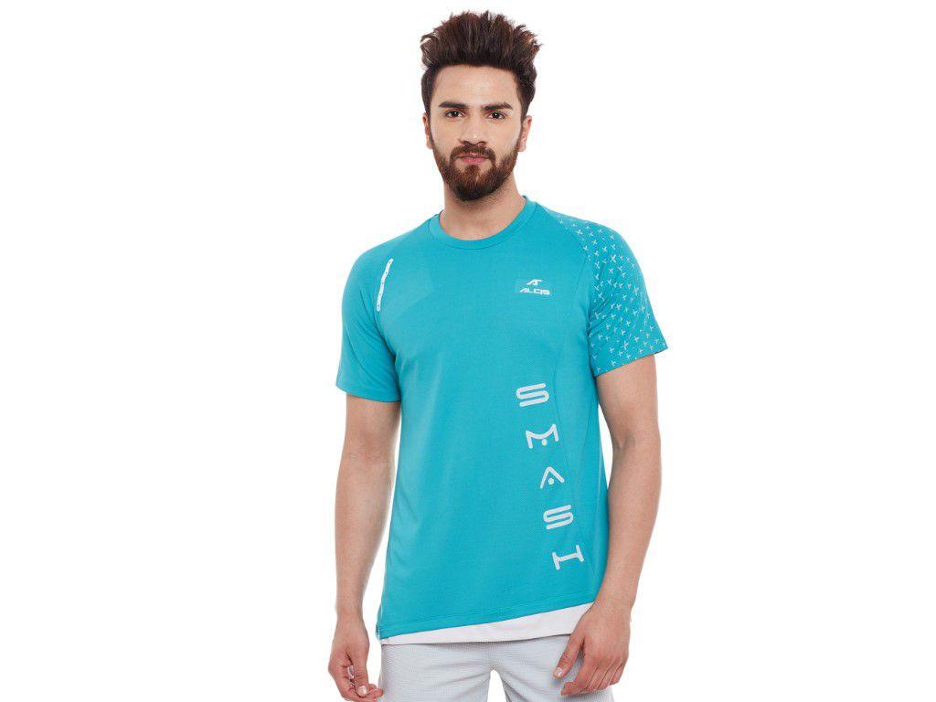Alcis Mens Green Printed Tshirt