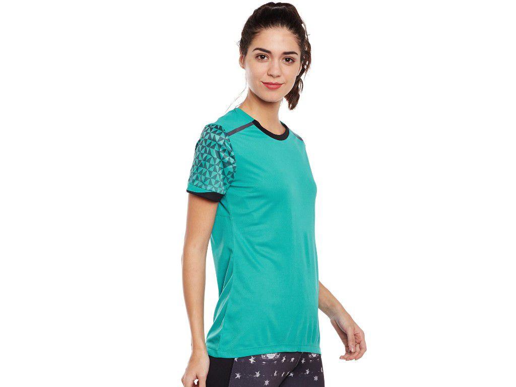 Alcis Womens Green Printed Tshirt