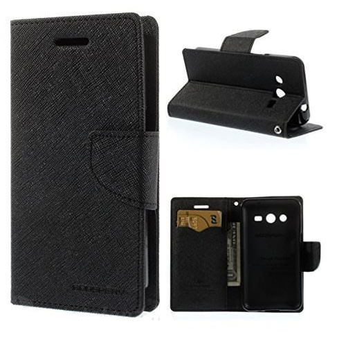 Samsung Galaxy Core 2 Flip Cover by FineDeal - Black