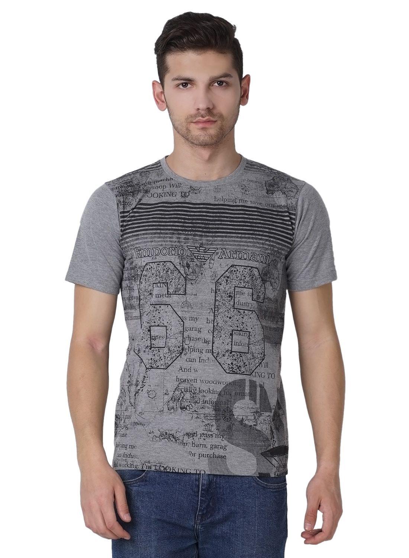 Maggivox Grey Round T-Shirt Pack of 1