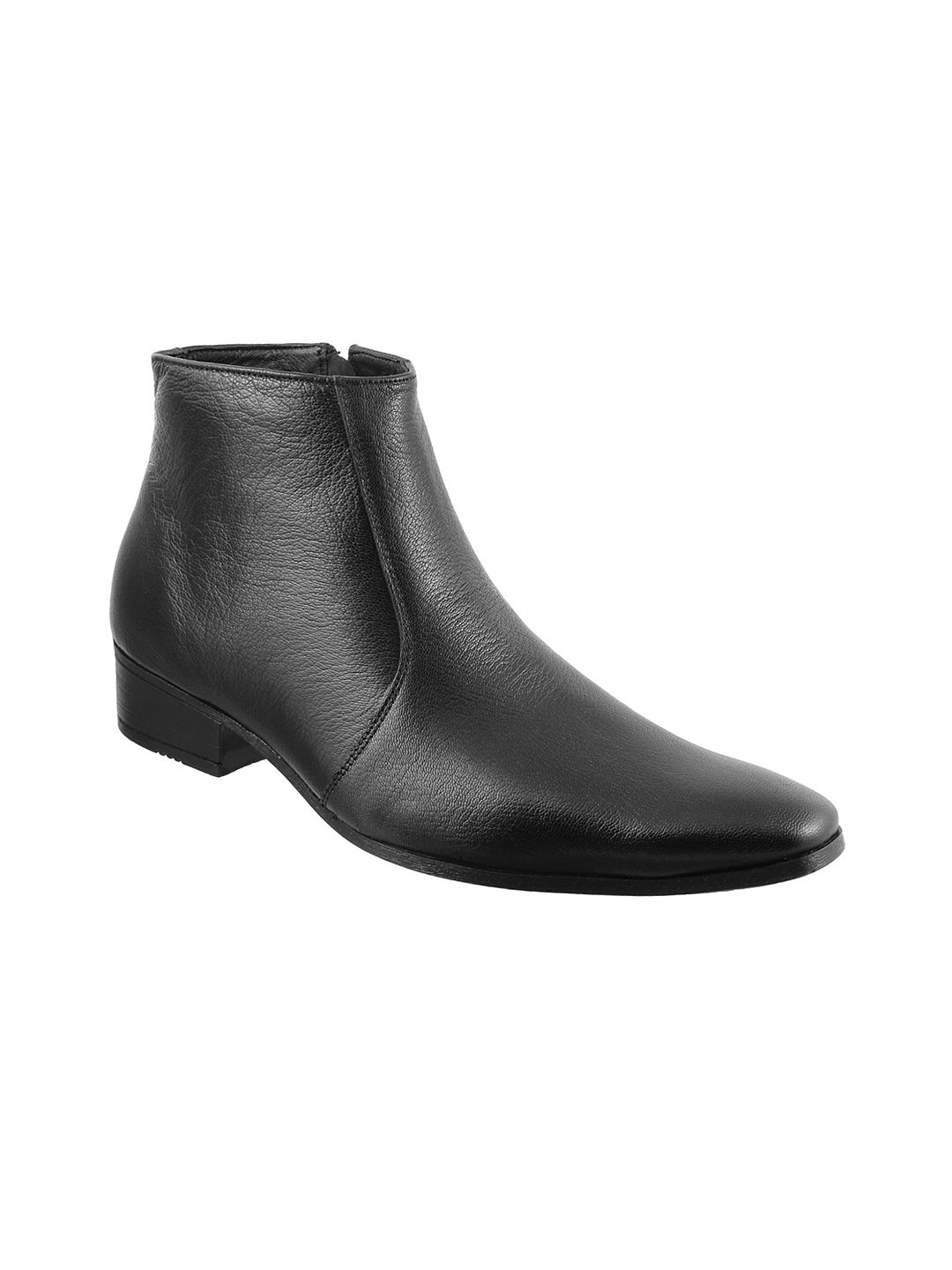 METRO Office Genuine Leather BLACK Formal Shoes