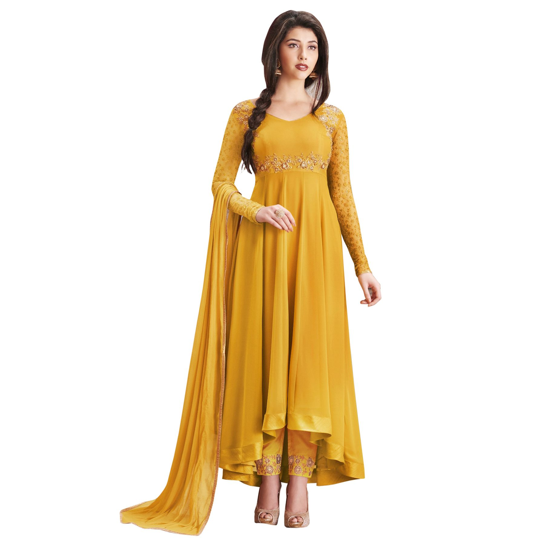 7d2167471e2 New Latest Designer Georgette Embroidered Semi Stitched Long Anarkali Suit  - Buy New Latest Designer Georgette Embroidered Semi Stitched Long Anarkali  Suit ...