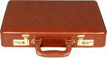 C Comfort Tan Small Briefcase