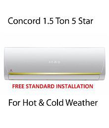 Concord 1.5 Ton 5 Star (Hot & Cold) R410a Split Air Conditioner(2016-17 BEE Rating) Free Standard Installation
