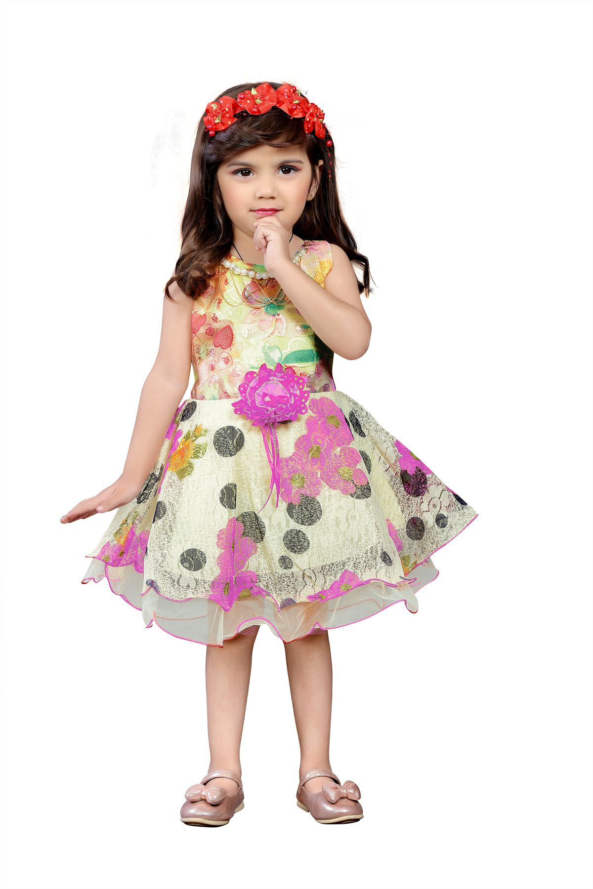 6cd417803df5b Dubai Creation Baby Girls Frock Dress - Buy Dubai Creation Baby Girls Frock Dress  Online at Low Price - Snapdeal