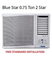 Blue Star 0.75 Ton 2 Star 2WAE081YCF Window Air Conditioner(2018 BEE Rating) Free Standard Installation