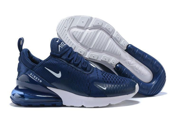 new styles 77023 b4593 Nike Air Max 270 Navy Running Shoes