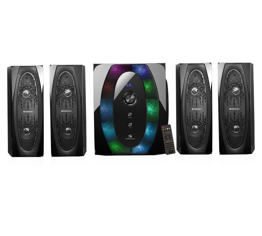 6516caf7b5a Buy Zebronics 4.1 MULTIMEDIA SPEAKERS Halo 4 4.1 Speaker System Online at Best  Price in India - Snapdeal