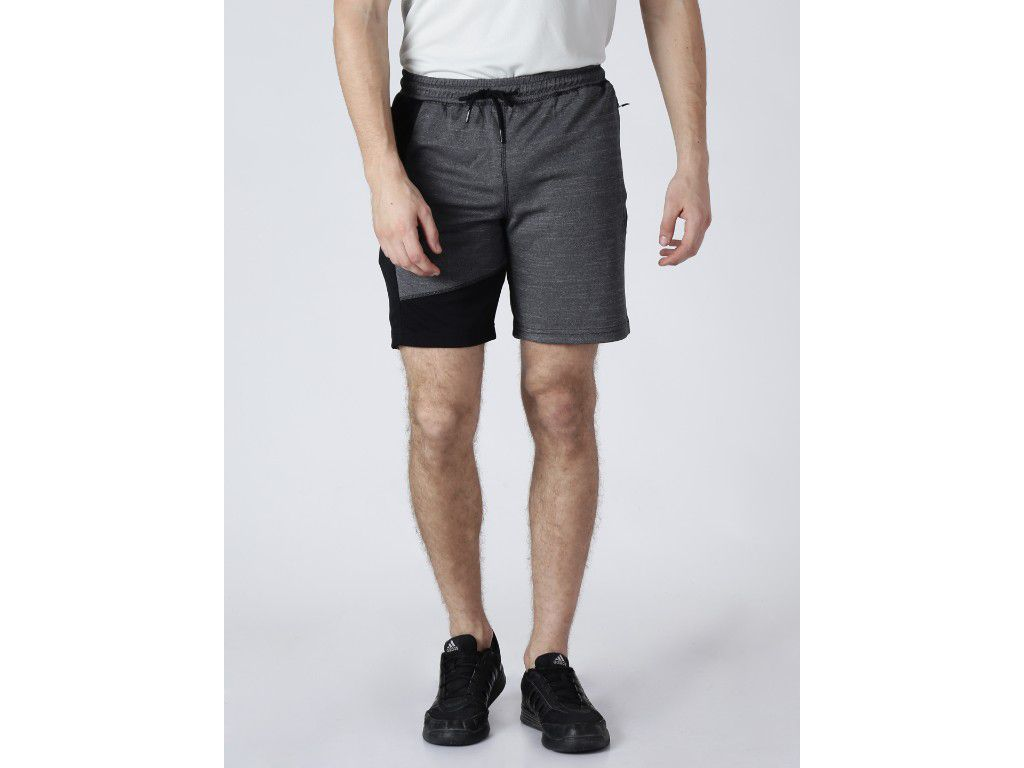 Alcis Mens Printed Black Shorts