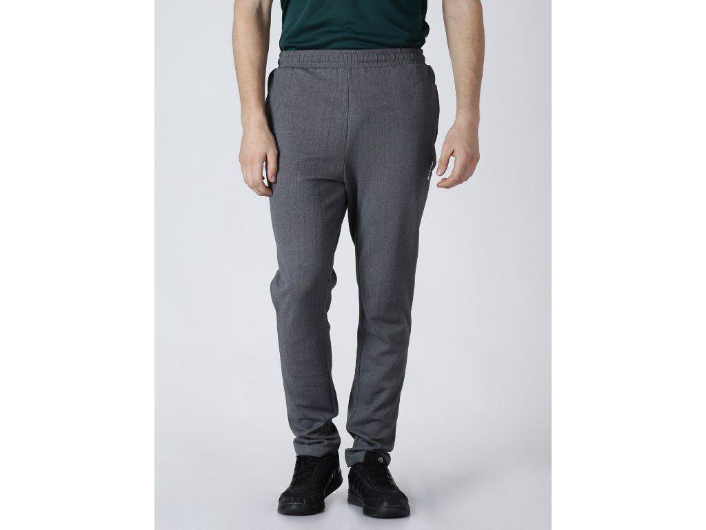 Alcis Mens Printed Grey Trackpant