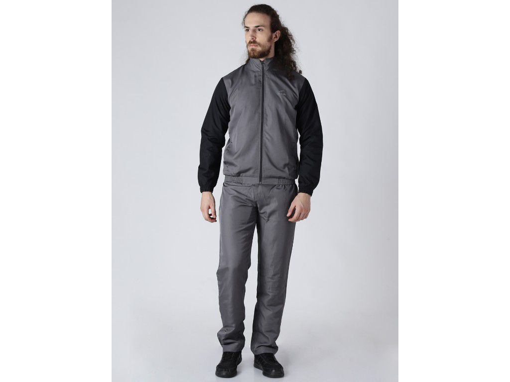 Alcis Mens Printed Grey Tracksuit