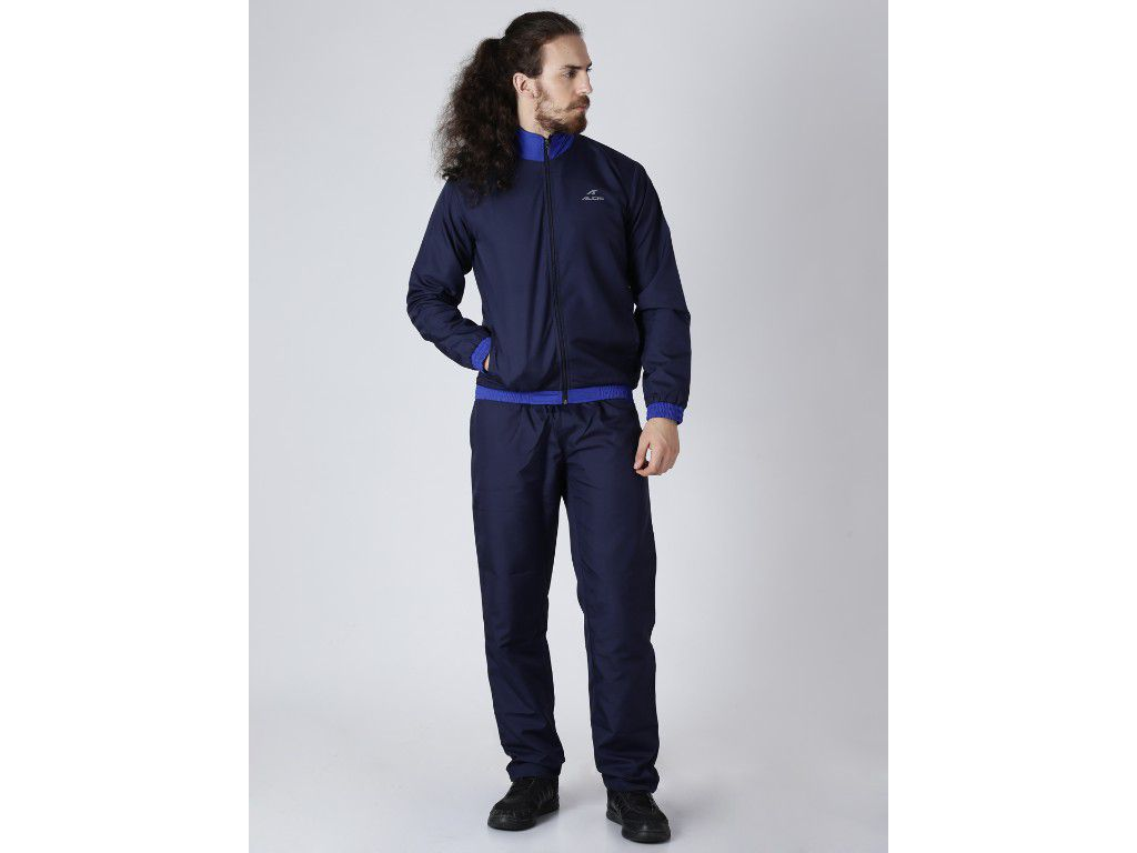 Alcis Mens Solid Navy Tracksuit
