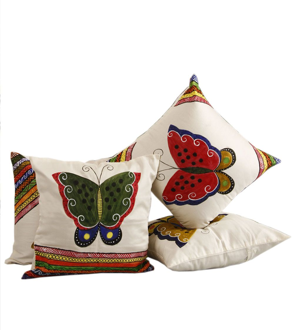 Mafatlal Set of 4 Cotton Cushion Covers 40X40 cm (16X16)