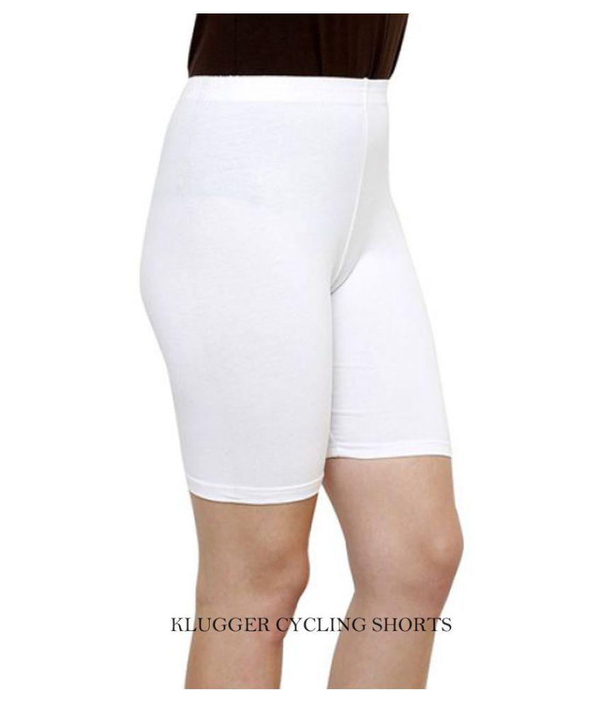 Klugger Women's/Girl's Bio-wash Cotton Lycra Cycling Shorts/Tights/Yoga Pant