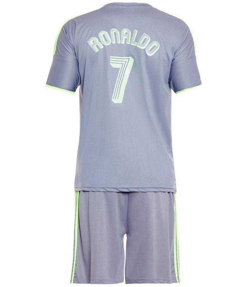 sneakers for cheap 5566d 15136 Sportigo Replica REAL MADRID - RONALDO 7 Football Jersey Set - Grey/Green  (XL, Shirt Size: 42)