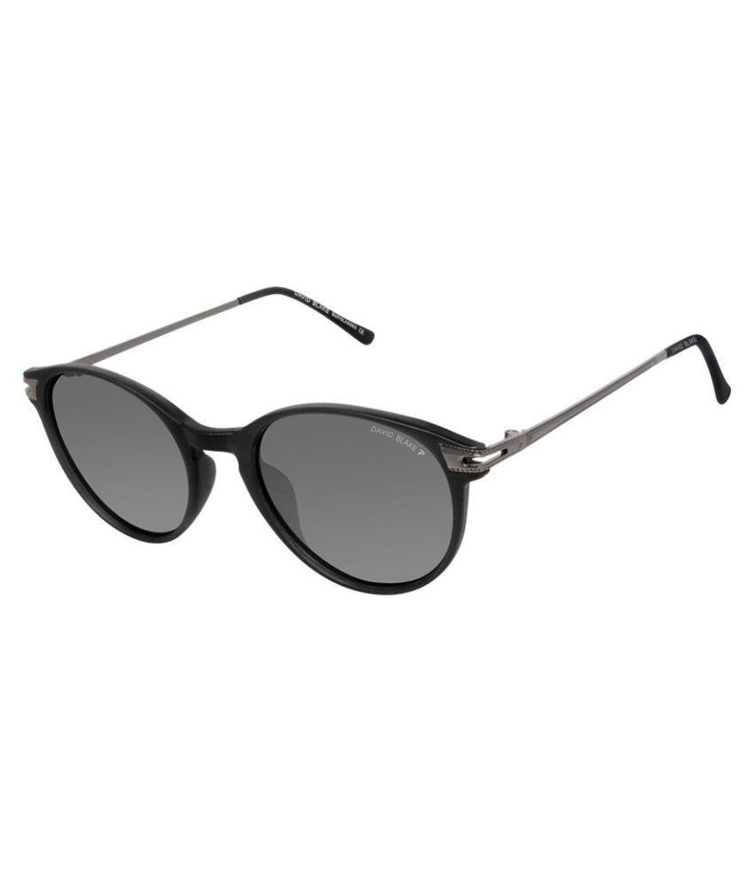 David Blake Black Round Sunglasses ( P863 )