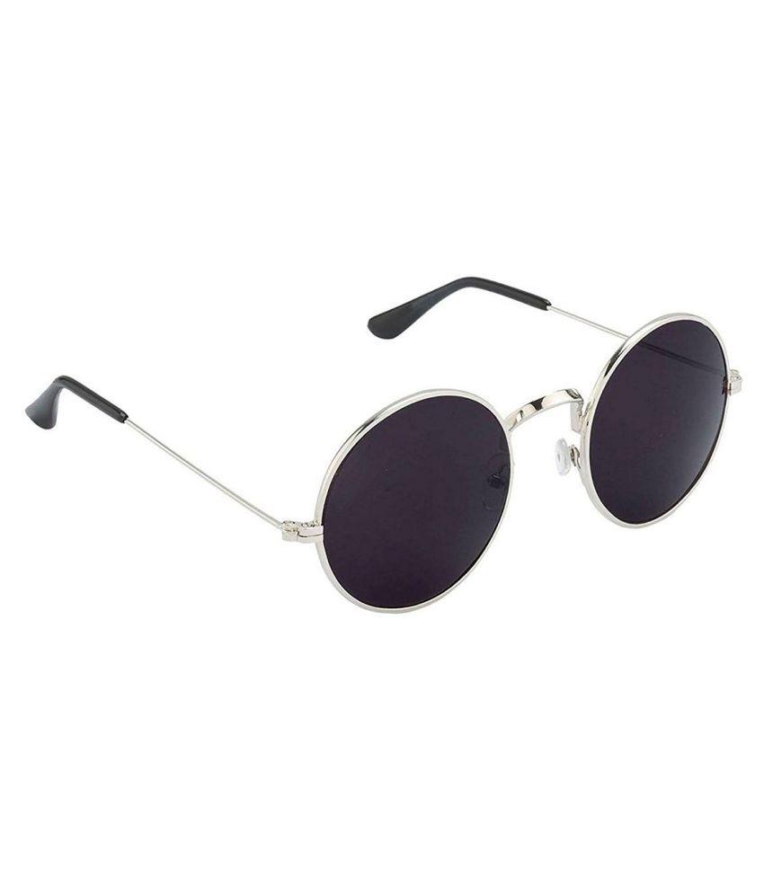 78464e10ea85 Eagle Black Round Sunglasses ( Gandhi Silver frame ) - Buy Eagle ...