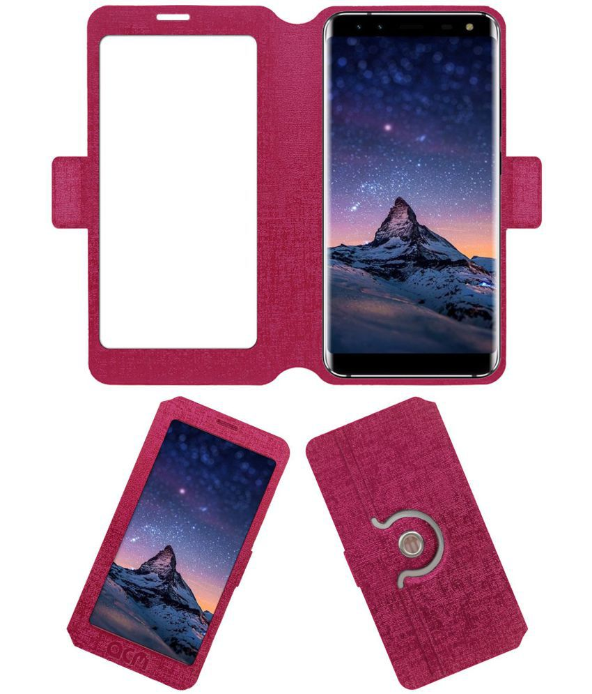 LEAGOO S8 Flip Cover by ACM - Pink