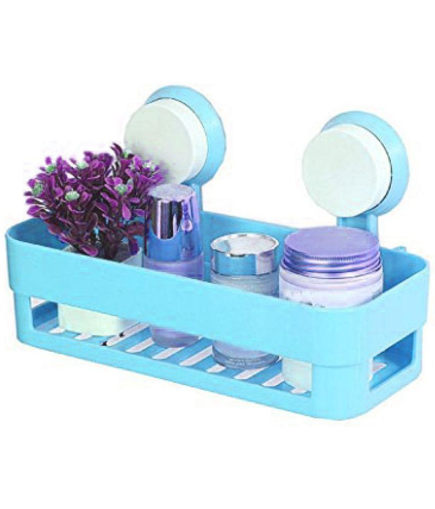 Buy connectwide Bathroom Dual Caddy / Shelve Plastic Wall Hung Shelf ...