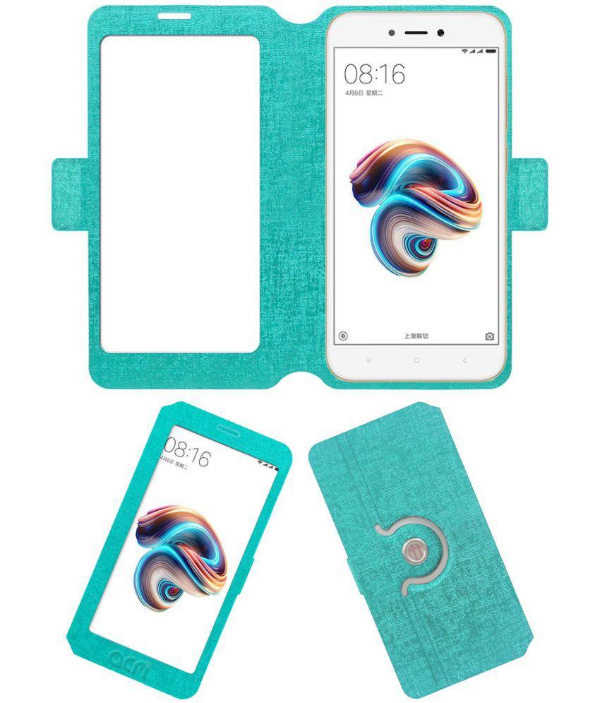Xiaomi Redmi 5A Flip Cover by ACM - Blue