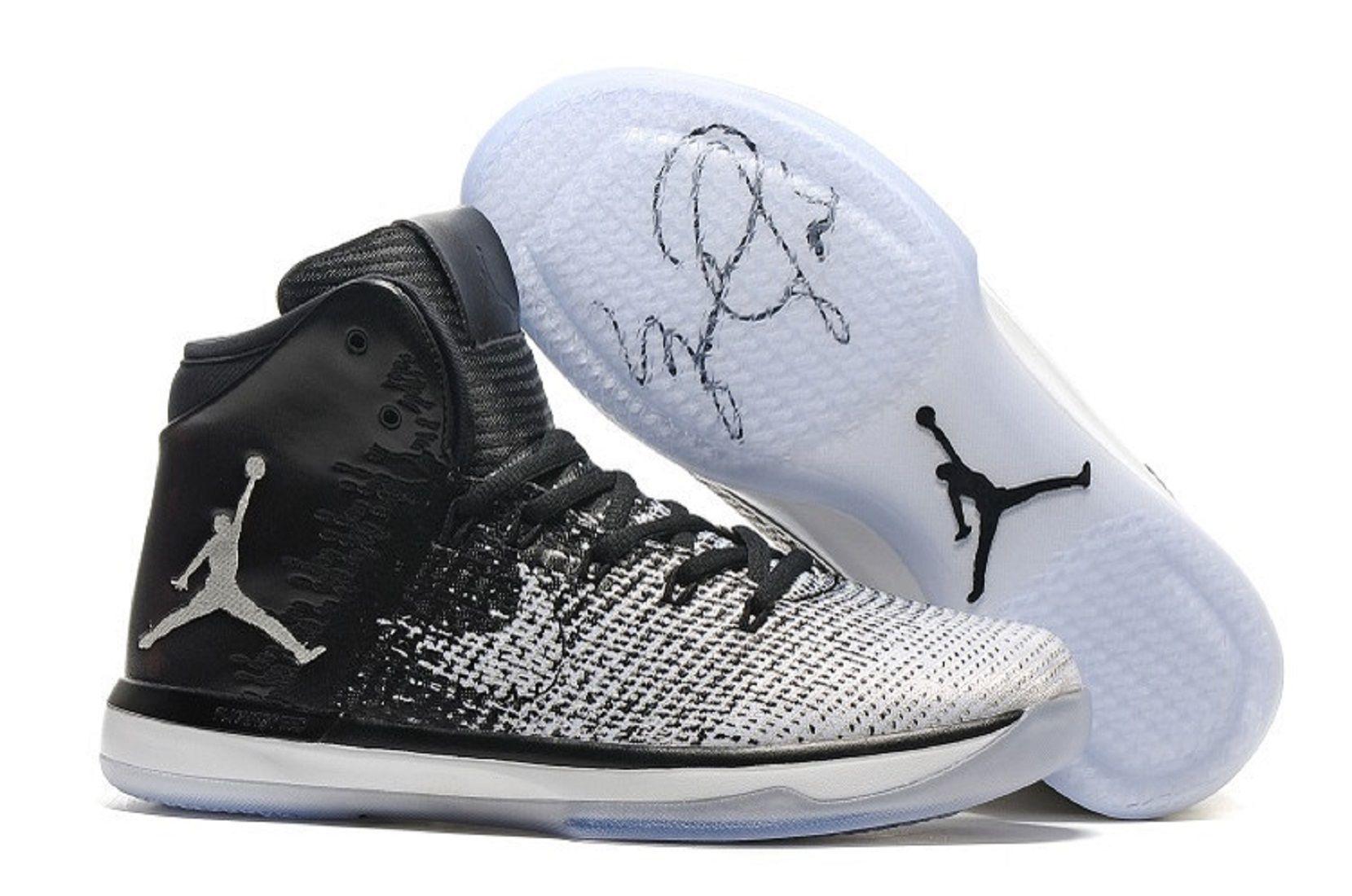 Nike 2018 Air Jordan 31 Fine Print White Basketball Shoes