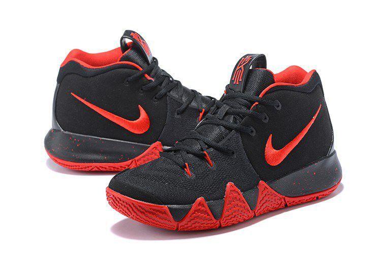 half off 69b6f 3009b Nike Kyrie 4 Cheap Red Black Basketball Shoes