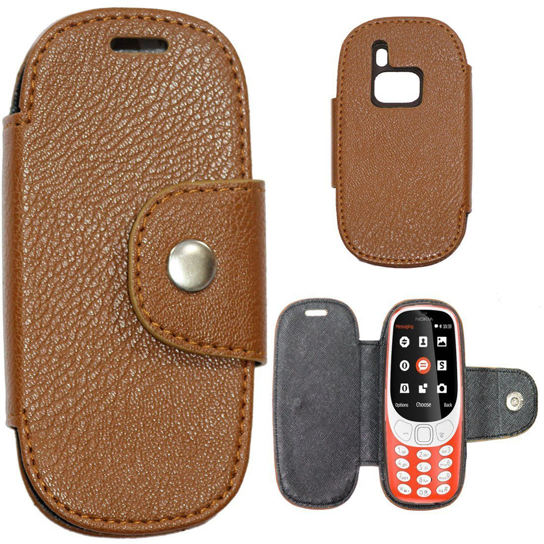 Nokia 3310 2017 Flip Cover by Gizmofreaks - Brown