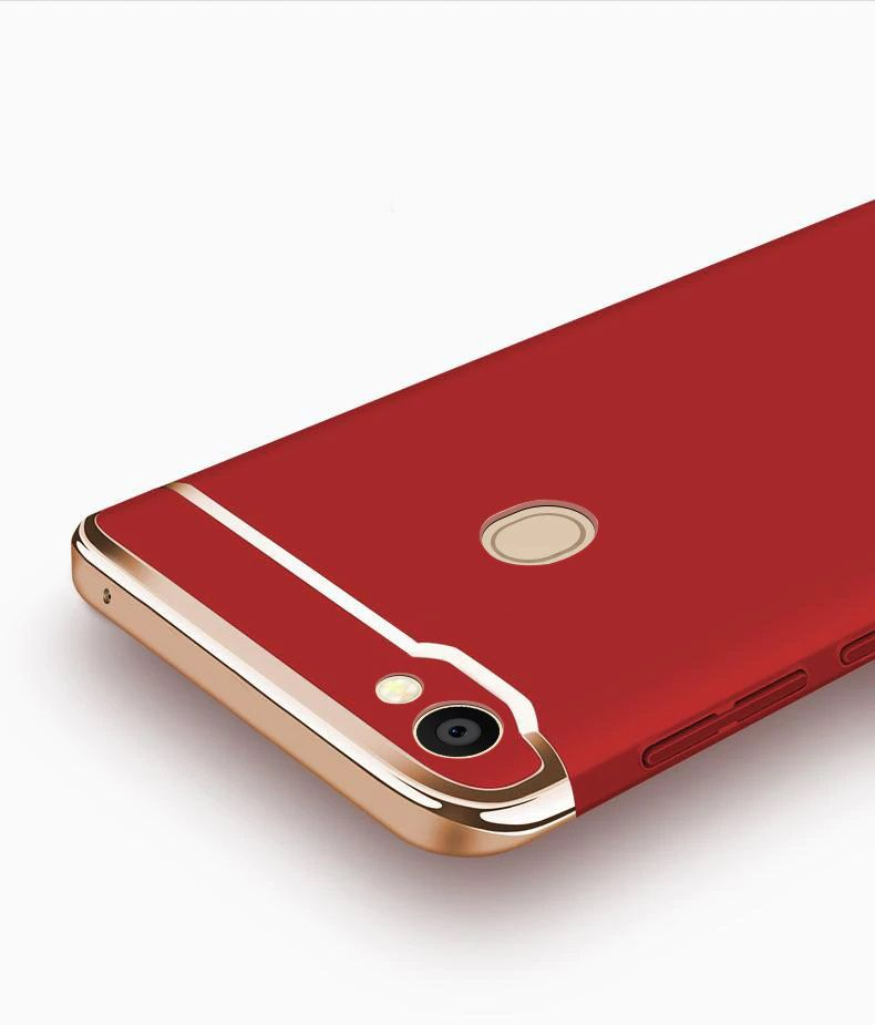 online store 2d84b 3e55e Oppo F5 Bumper Cases JMA - Red 3 in 1 Design 360° Anti Slip Super Slim Case