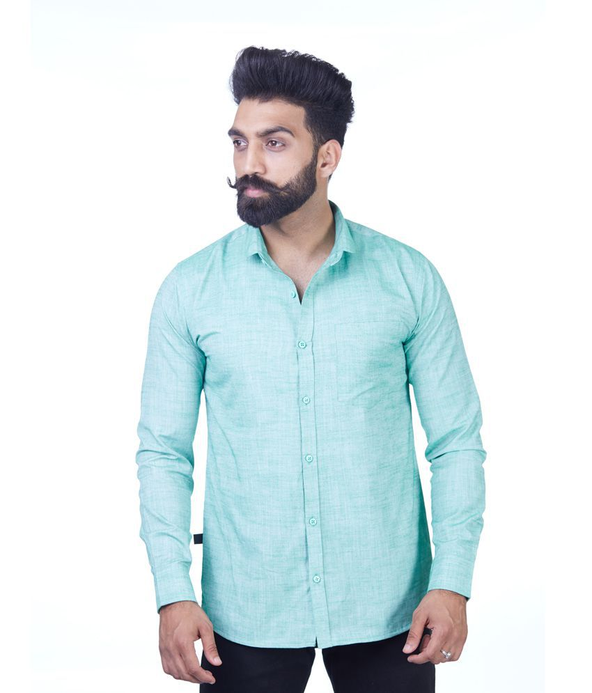 Rellin Green Regular Fit Shirt Single