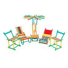 Emob 138 Pcs Colorful Sticks Creative Building Blocks Learning Toy Set for Kids Perfect Gift