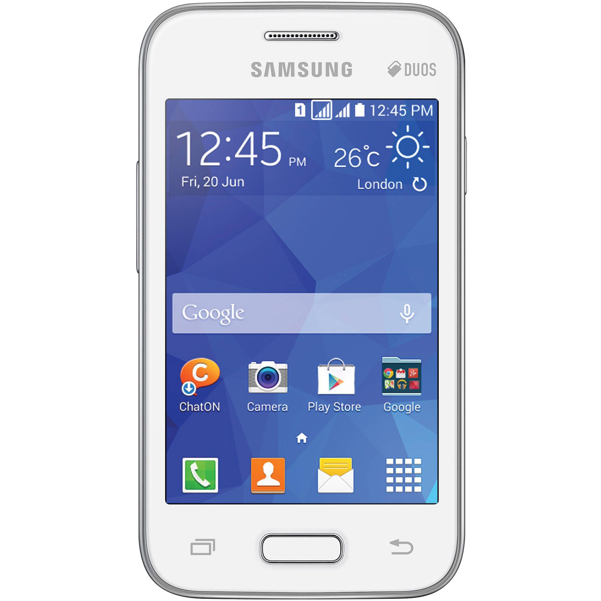 CERTIFIED USED Samsung Galaxy Y Duos GT S6102 128 MB White