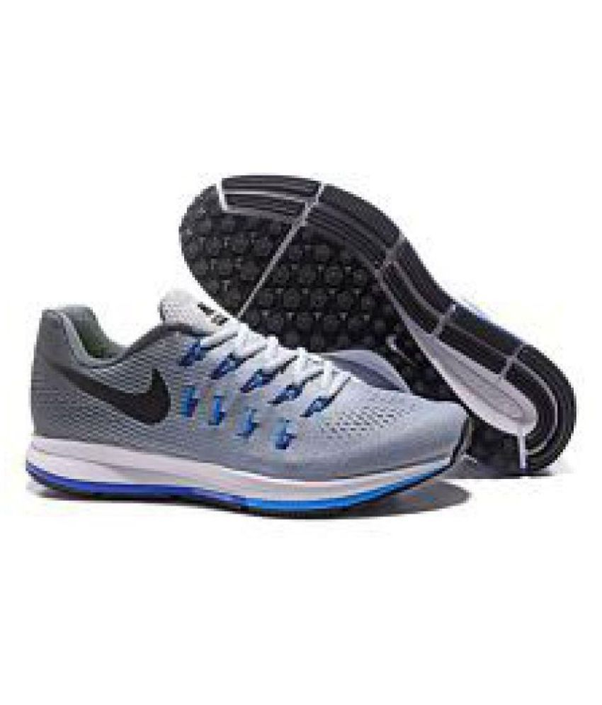 a654f48878c Nike Air zoom 33 pegasus Gray Running Shoes - Buy Nike Air zoom 33 pegasus  Gray Running Shoes Online at Best Prices in India on Snapdeal