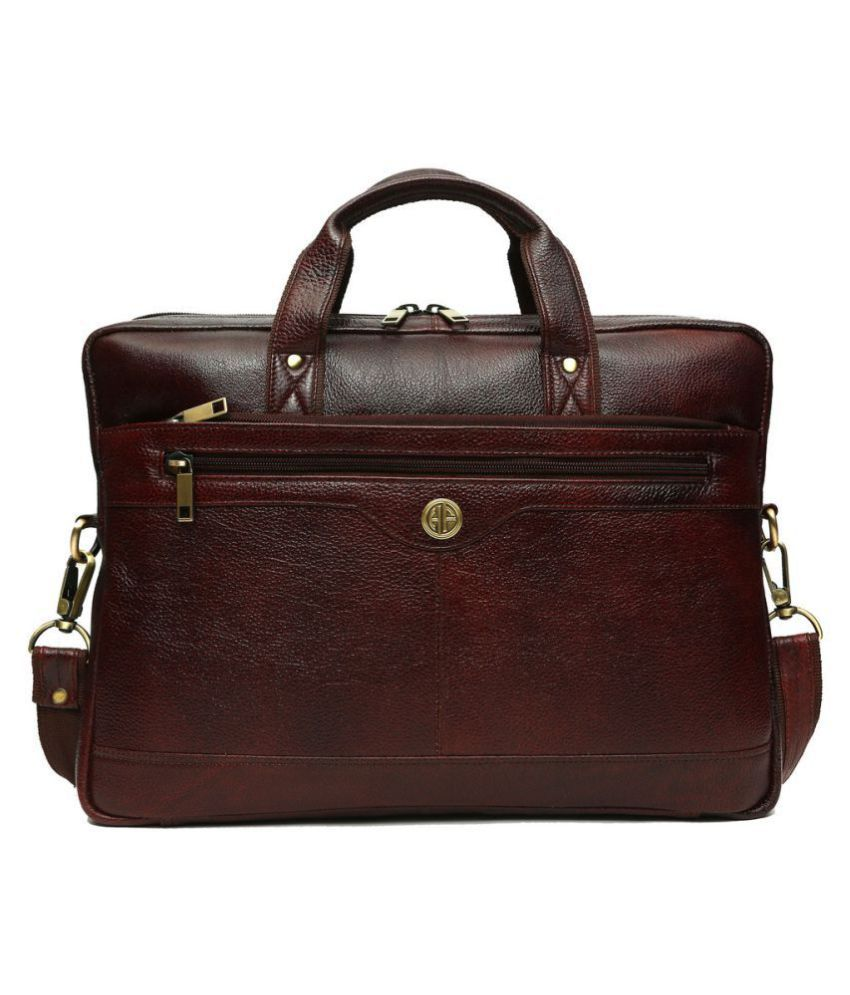 HAMMONDS FLYCATCHER NA Brown Leather Office Bag - Buy HAMMONDS FLYCATCHER  NA Brown Leather Office Bag Online at Low Price - Snapdeal 70102862f956e