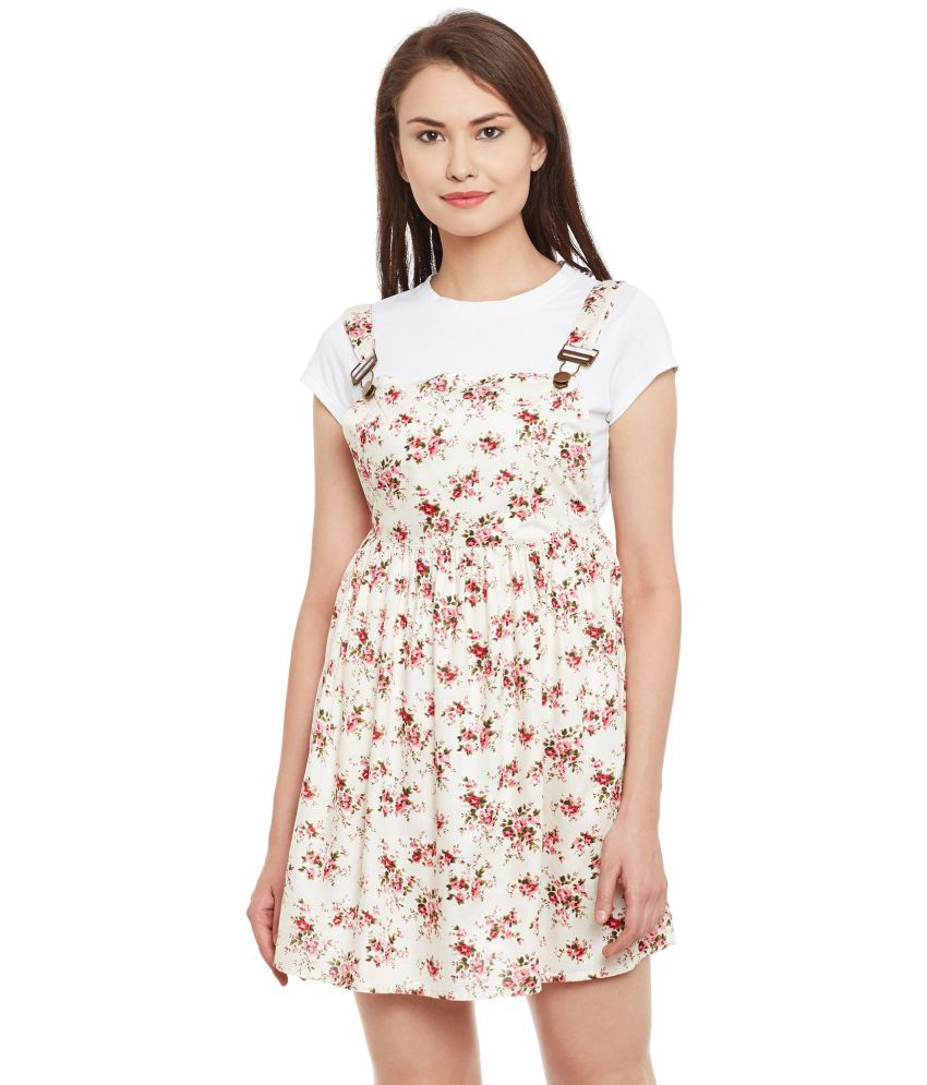 9fb42e044f4d3 BOHOBI Rayon Off White Dungarees - Buy BOHOBI Rayon Off White Dungarees  Online at Best Prices in India on Snapdeal