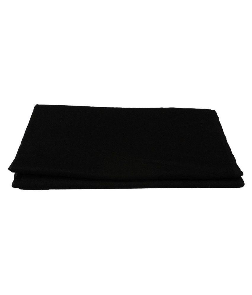 Hello Punjabi Black Plain Cotton Headwraps