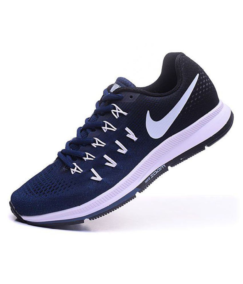 huge discount 99249 f9dd5 ... Nike Zoom Pegasus 33 Blue Running Shoes ...