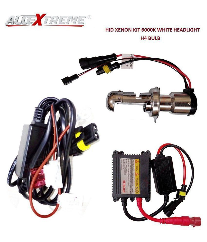 allextreme hid xenon kit 6000k conversion kit h4 headlight lamp bulb for  bikes maruti suzuki swift dzire cars (12v, 55w): buy allextreme hid xenon  kit 6000k